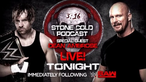 Dean Ambrose appears on Stone Cold Podcast – Tonight on WWE Network